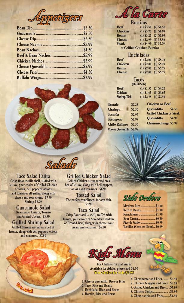 Buffalo Grill Carte Pdf.Appetizers A La Carte Salads Kids